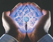 atom-in scientists hand
