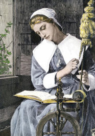 working-as-she-reads-her-bible