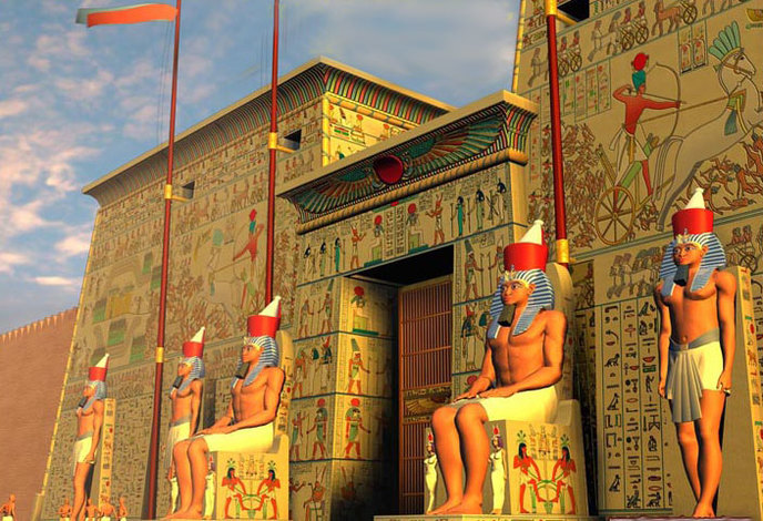 Egyptian-temple-4-post