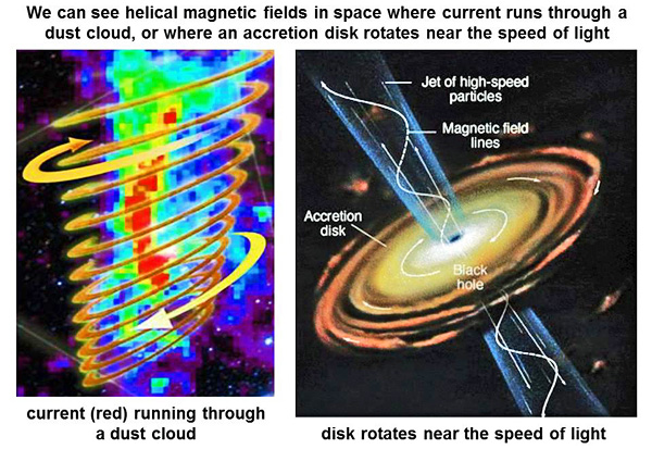 16-helical magnetic fields in space