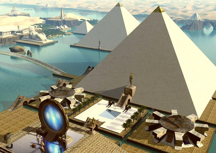 Atlantis-pyramids three
