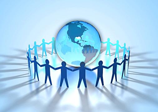 people together on earth