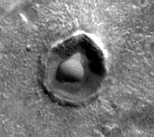 Dome in Crater On Mars