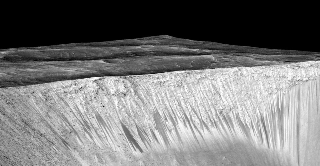 briny water flows NASA